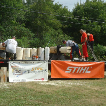 Trevors Goodine Professional Lumberjack Competition